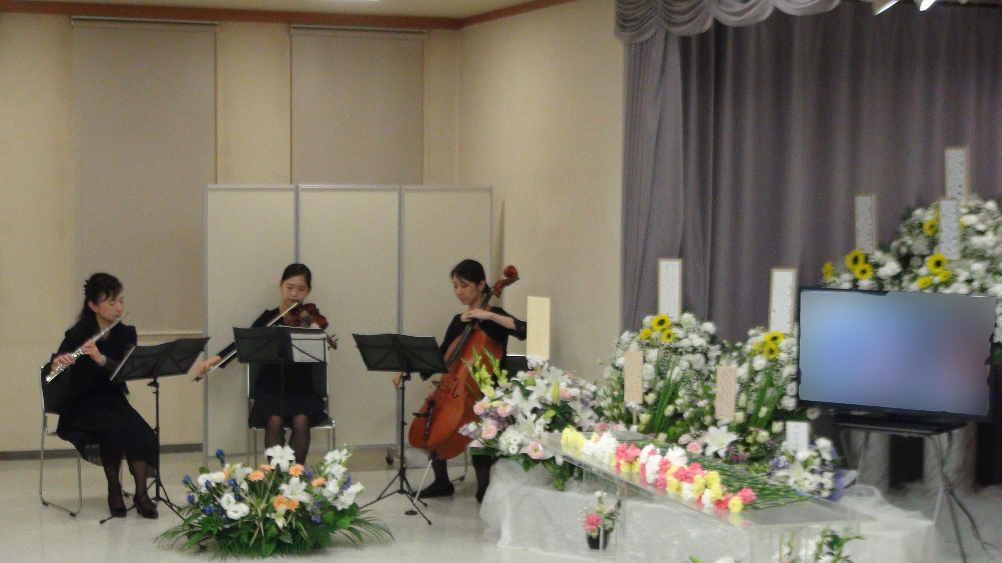 音楽葬の流れ